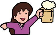 お酒を飲む女子